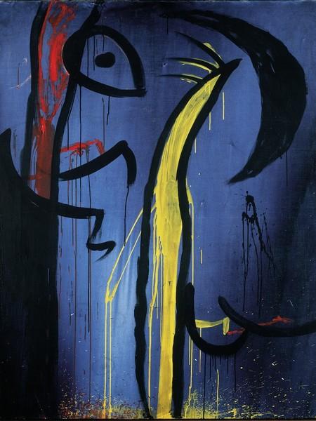 Joan Miró, Senza Titolo, n.d., acrilico su tela, 162,5 x 130,5 cm