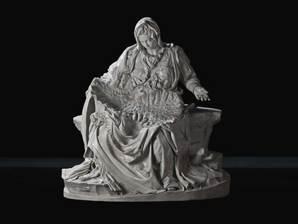 Fabio Viale, Souvenir Pietà (Madre), 2017, white marble, cm. 174,2x165,7x89,2