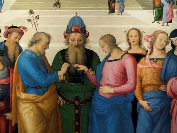 &quot;[PRIMO DIALOGO] Raffaello e Perugino attorno a due Sposalizi della Vergine&quot;, Pinacoteca di Brera, Milano 17 marzo - 21 giugno 2016, <span>Pietro Vannucci&nbsp;detto il Perugino,&nbsp;</span><em>Sposalizio della Vergine </em>(Particolare)<em>,&nbsp;</em><span>1500-1504&nbsp;olio su tavola, 236 &times; 186 cm, Caen,&nbsp;Mus&eacute;e des Beaux-Arts, Particolare<br /></span>