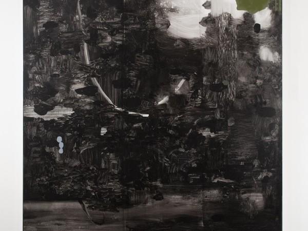 Mirko Baricchi, Pangea #7, 2017, tecnica mista su tela, cm 120x120