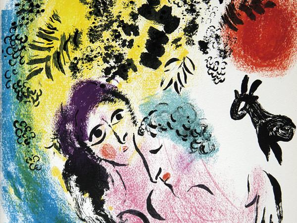 Marc Chagall, Les amoureux au soleil rouge, 1960
