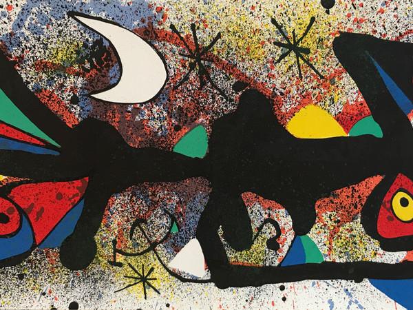 Joan Mirò, Senza Titolo 2, 1974, litografia a colori, cm 27,8x56,5