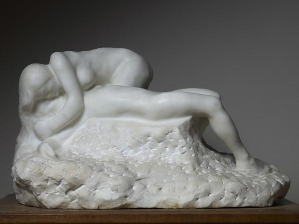 Auguste Rodin, La morte di Adone, 1891, marmo, 36x61,5x37. Parigi, musée Rodin