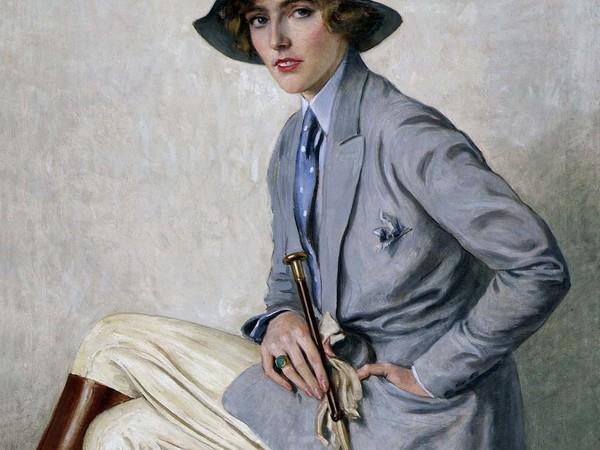 Oscar Hermann Lamb, Amazzone, 1932, olio su tela, 10x81 cm.