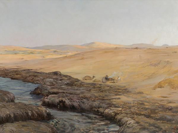 Giorgio Oprandi, Per la Cirenaica. Olio su tela, 78x125 cm. Bergamo, Collezione Studio d'Arte San Tomaso