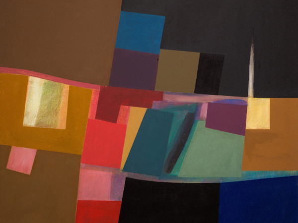 Rino Valido, Dal ponte, 2008, olio su tela, 100 x 120 cm.