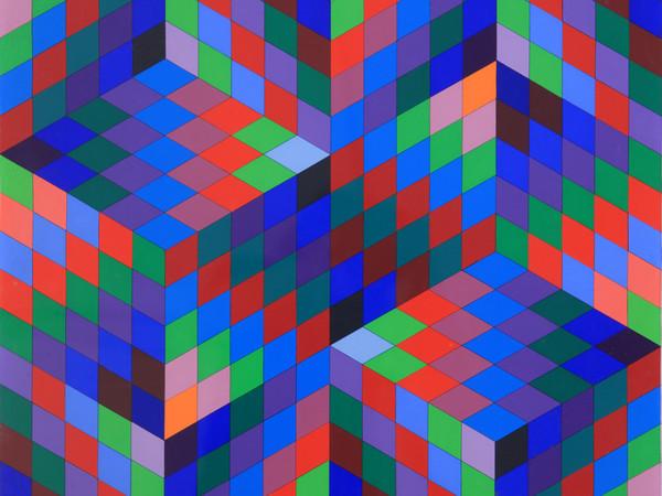 Victor Vasarely, Diam-va, 1969.1970, olio su tela, cm.100x69