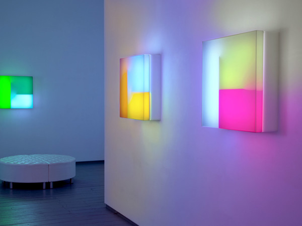 Brian Eno, installation Light Music, 2016. Paul Stolper Gallery, April-May 2016