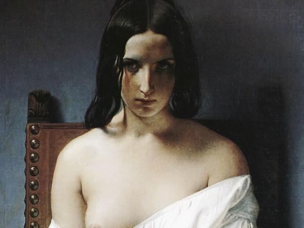 Francesco Hayez, Meditazione, 1851, olio su tela. Galleria d'Arte Moderna Achille Forti , Verona