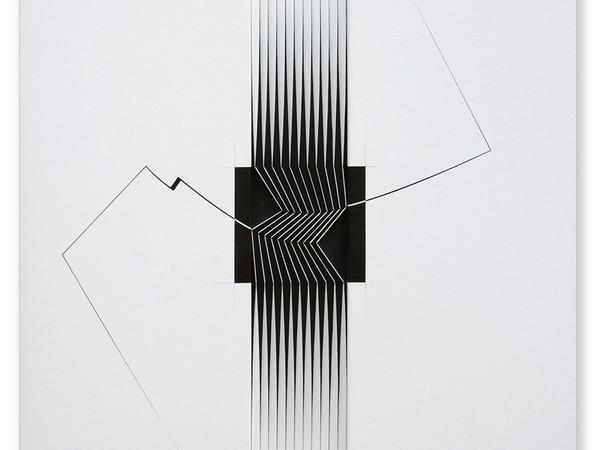 Alberto Biasi, Elettroshock, Assemblaggio, 2009, cm. 100X97