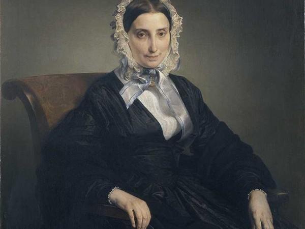 Francesco Hayez, Ritratto di Teresa Manzoni Stampa Borri, 1847-1849, olio su tela. Pinacoteca di Brera, Milano