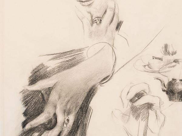 Giovanni Boldini, Studio di mani, 1890-1899. Matita su carta, 330x330 mm.
