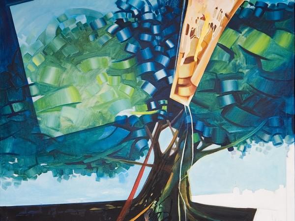 Gesualdo Spampinato, Fiori di carrubbo, 2005, olio su tela
