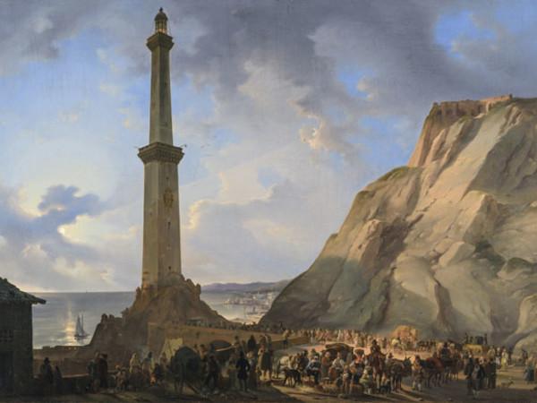 Giovanni Migliara, La Lanterna di Genova, 1833. Olio su tela, cm. 51,5x71,8. Museo Civico e Pinacoteca di Alessandria (inv. 10397)