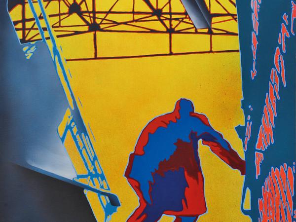 Giangiacomo Spadari, Metropolitana, 1973. Acrilico su tela, cm. 100x100