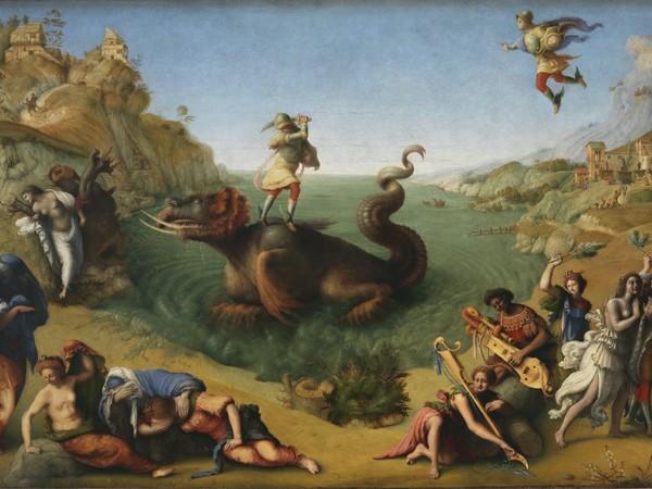 Piero di Cosimo, Perseo che libera Andromeda, 1510-1515. Tempera grassa su tavola, 70x120 cm. Firenze, Gallerie degli Uffizi