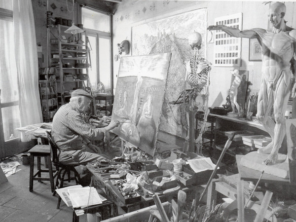<span>Piero Leddi ritratto nel suo atelier</span>
