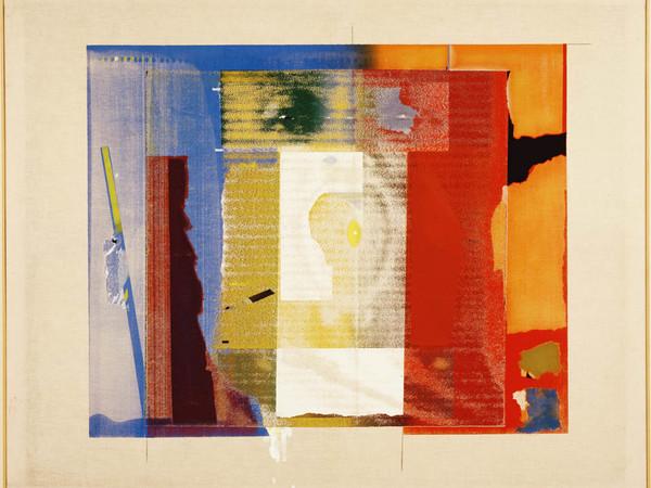 Paolo Gioli,188 Ritratto innominabile, 1975. Serigrafia e acrilico su tela, 110 x 135 cm.