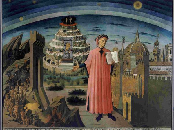 Domenico di Michelino, Ritratto di Dante Alighieri, la città di Firenze e l'allegoria della Divina Commedia