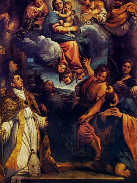 Madonna col Bambino in gloria e i Santi Lodovico,