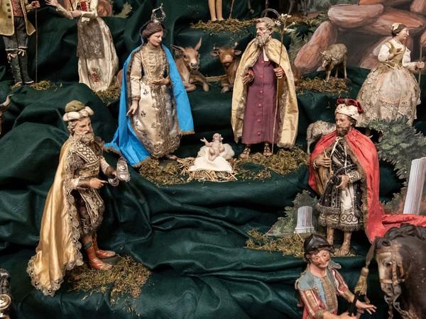 Presepi genovesi del Settecento dal Museo Giannettino Luxoro, Veduta di allestimento presso Museo Davia Bargellini, Bologna, 2018