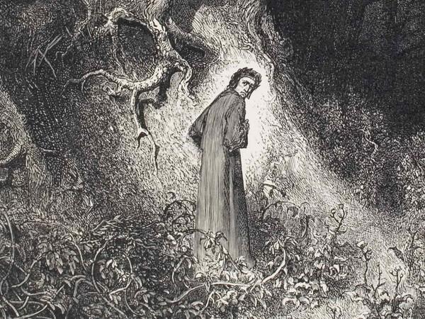 Gustave Doré, Divina Commedia, Inferno, Canto I, Dante si smarrisce nella selva