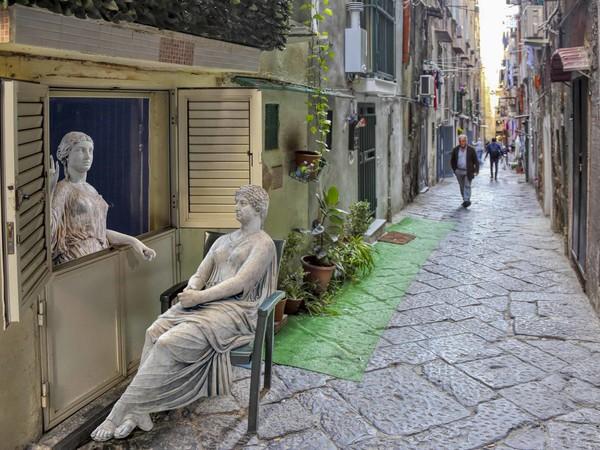 """Fotomontaggio di """"Fuga dal Museo"""" di Dario Assisi e Riccardo Maria Cipolla"""