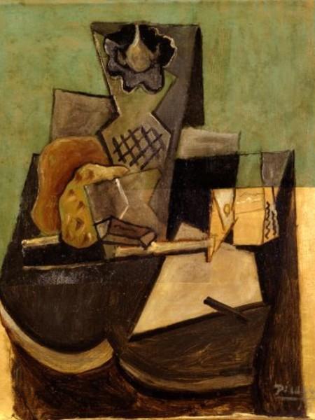 Pablo Picasso, Vase, Pipe, Paquet De Tabac, 1919