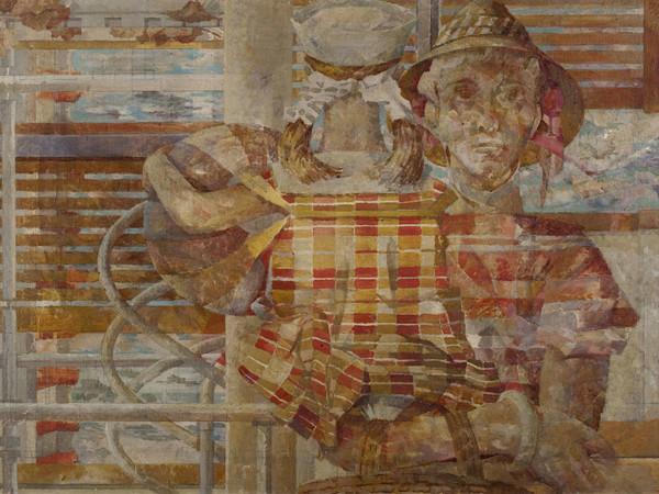 Salvatore Nocera, Villa sull'Adriatico, olio su tela, 120x83 cm, 1960