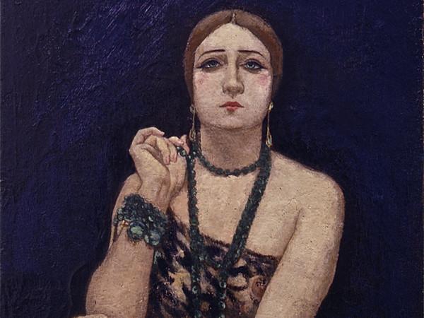 Anselmo Bucci, Rosa Rodrigo (La bella), 1923, Olio su tela | Courtesy of Matteo Mapelli - Galleria Antologia, Monza, 2017