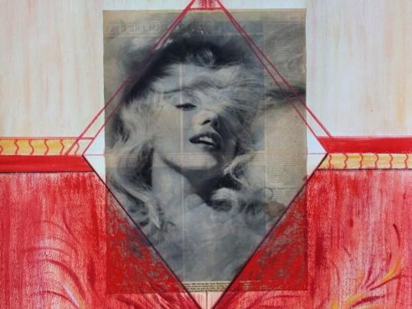 Tonina Garofalo, Marilyn Monroe, 2017, tecnica mista, 55x75 cm.