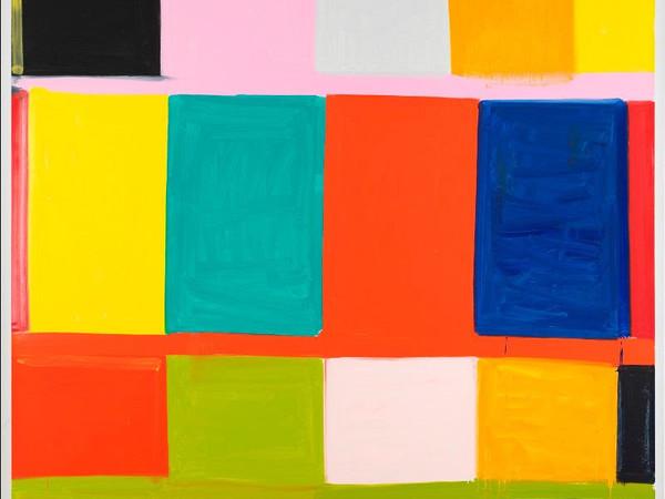 Stanley Whitney, <em>That's Rome</em>, 2019, olio su lino, 243.8 × 243.8 cm.