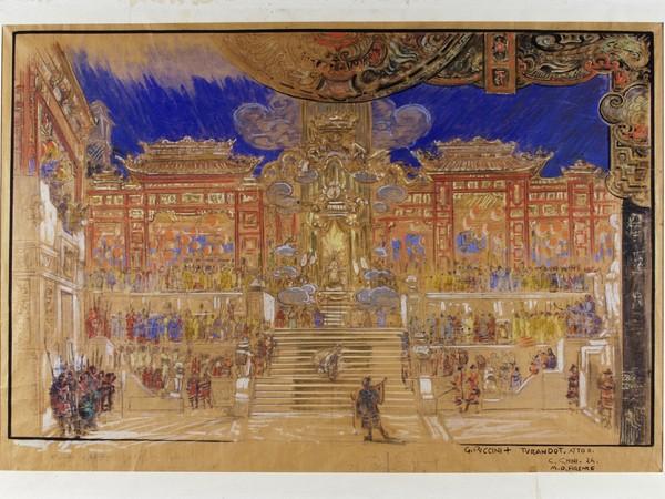 Galileo Chini,<em>Vasto piazzale della reggia.</em>Bozzetto per scenografia della Turandot.Atto II, scena II (quarta versione, definitiva),1924,Milano, Archivio Storico Ricordi, ICON000206<br />