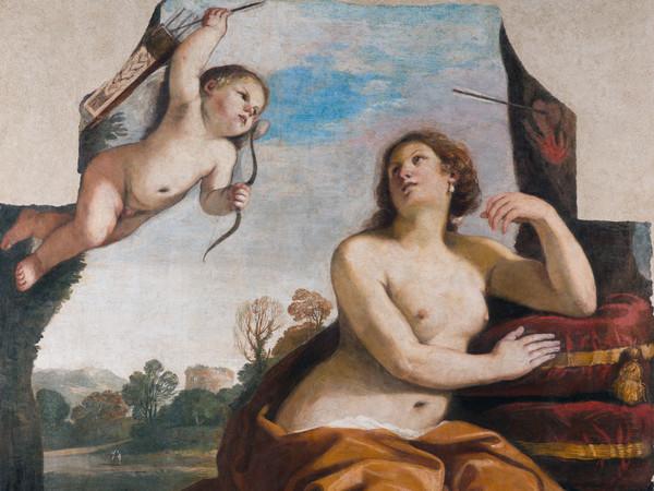 Giovanni Francesco Barbieri (detto il Guercino), <em>Venere e Amore</em>, 1632, Affresco staccato e trasportato su tela, 175 x 176 x 4 cm, Accademia Nazionale di San Luca, Roma