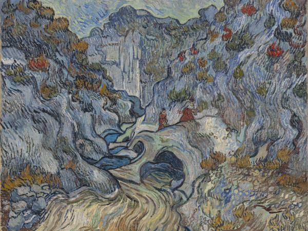 Vincent van Gogh, Il burrone di Peiroulets, Olio su tela, Dicembre 1889, Otterlo Museum