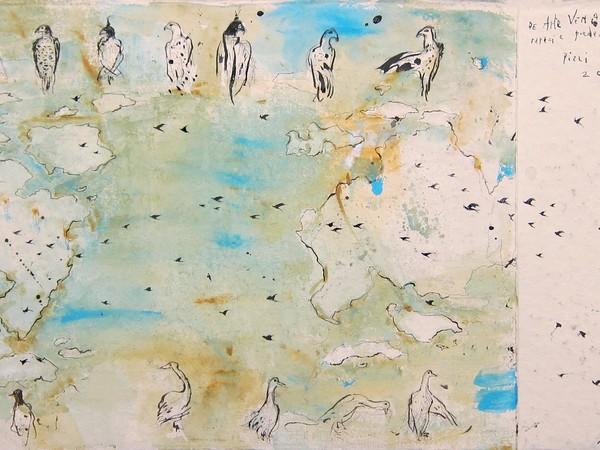 Pizzi Cannella, Bozzetto per scenografia (opera veggente), 2018, tecnica mista su carta, cm. 56x100