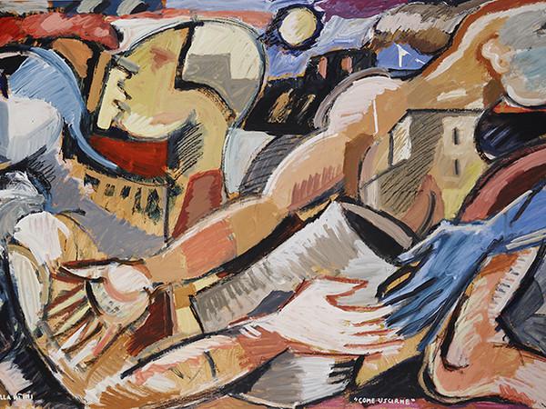 Dario Ballantini, Come Uscirne, 2018, acrilico su tela, cm. 122X204