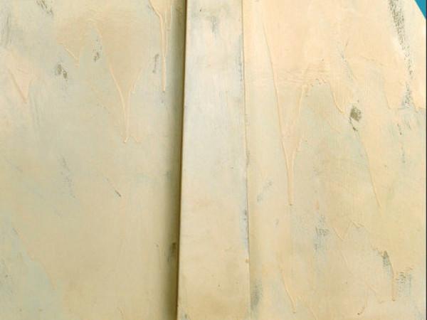Tano Festa, Obelisco, 1963, legno in rilievo su tavola e vernice, cm 116 x 89