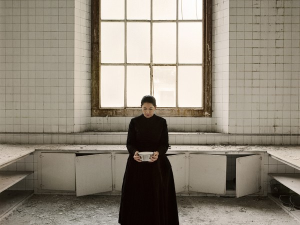 Marina Abramović, The Kitchen V, Carrying the Milk From the series The Kitchen, Homage to Saint Therese Video installation, color 2009