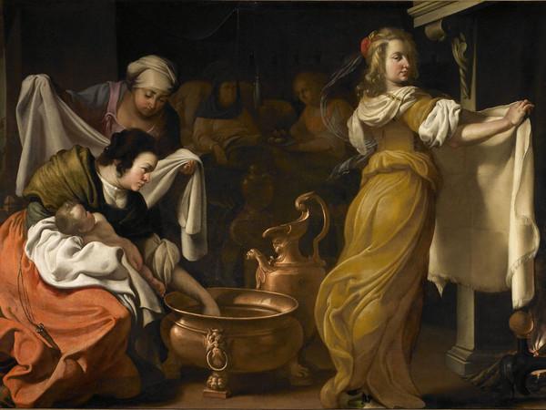 Luigi Miradori detto Genovesino, Nascita della Vergine,1642. Tela, cm. 190 x 280,5. Cremona, Museo Civico Ala Ponzone