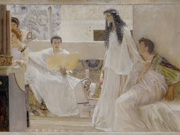 Giulio Bargellini, Eterno Idioma, 1899 ca. Olio su tela. Acquisto da A. Parronchi 2006. Galleria d'arte moderna di Palazzo Pitti, Firenze
