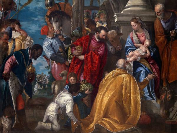 Paolo Caliari detto il Veronese (Verona 1538 - Venezia 1588), <em>Adorazione dei Magi</em>, Particolare, Olio su tela, 234 x 320 cm, Vicenza, Chiesa di Santa Corona