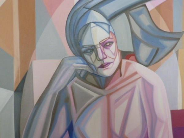 Marian Comotti, Pensieri ribelli, 2018, olio su tela, cm. 70x70