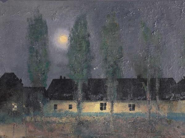 Matteo Massagrande, Poemetto della sera, 2009, tecnica mista su tavola, cm 39x55. Collezione privata