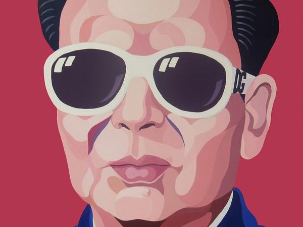 Giuseppe Veneziano, Mao Mao, 2007, acrilico su tela 100x100 cm