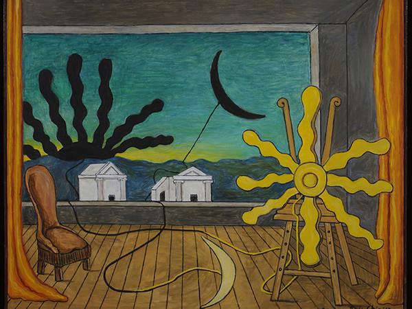 Giorgio de Chirico Sole sul cavalletto, 1973. Olio su tela