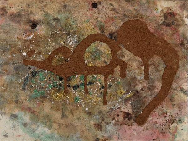 Zehra Doğan, Hayallerim, I miei sogni, 2018, Carcere di Diyarbakir, Olio alimentare, matita nera, succo di melograno, vernice procurata clandestinamente su carta da lettera, 30 x 21 cm   Foto: Jef Rabillon