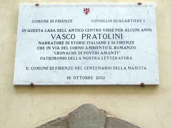 Lapide centanario Vasco Pratolini, Via del Corno, Firenze I Ph. Sailko pic
