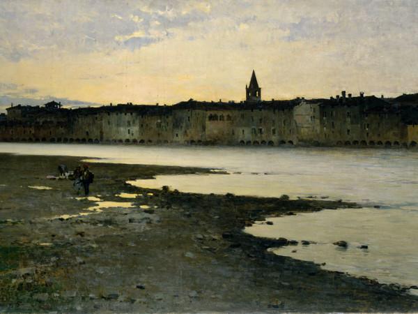 Bartolomeo Bezzi, Sulle rive dell'Adige, 1885.