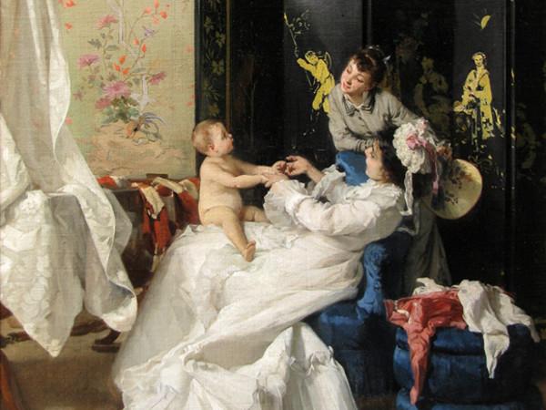 Luigi Busi, <em>Gioie materne</em>, Collezione privata